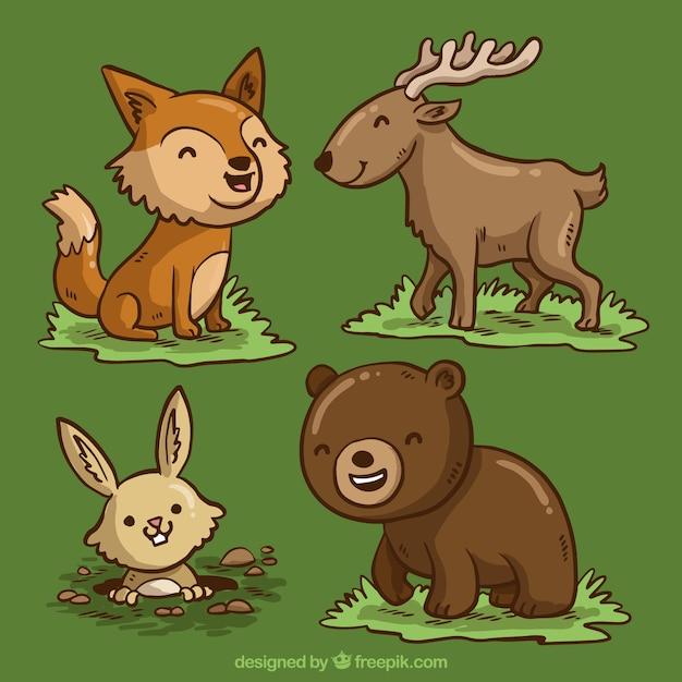 cartoon animals vectors free vector graphics everypixel