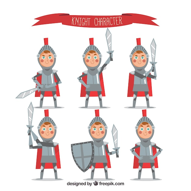 Nice character of child with armor in flat design