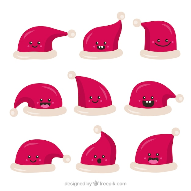 Nice characters in santa claus hats