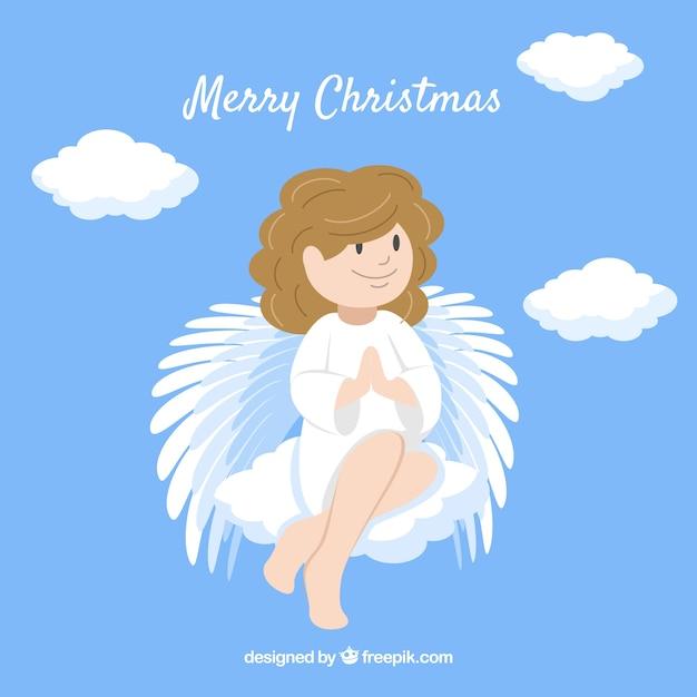 Nice christmas angel background