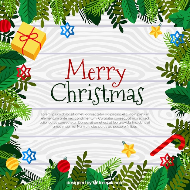 Nice christmas background in a frame Vector | Free Download