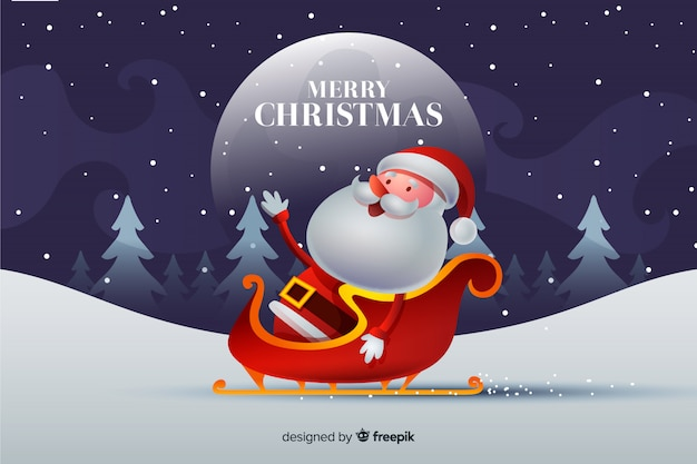 Nice christmas background Free Vector