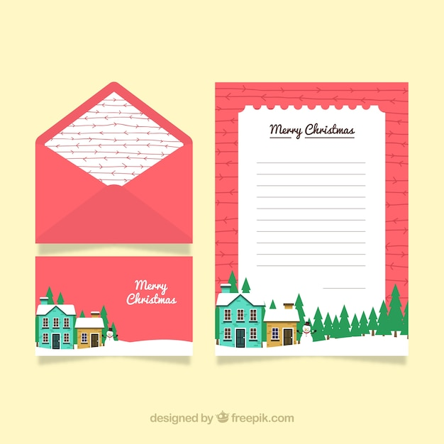 Nice christmas card with envelope