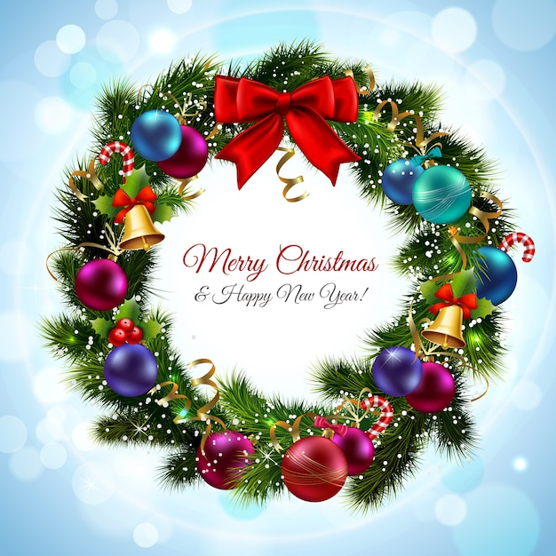 Nice christmas card with ornaments vector premium download nice christmas card with ornaments premium vector m4hsunfo