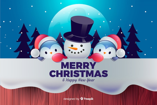 Nice christmas characters background Vector | Free Download
