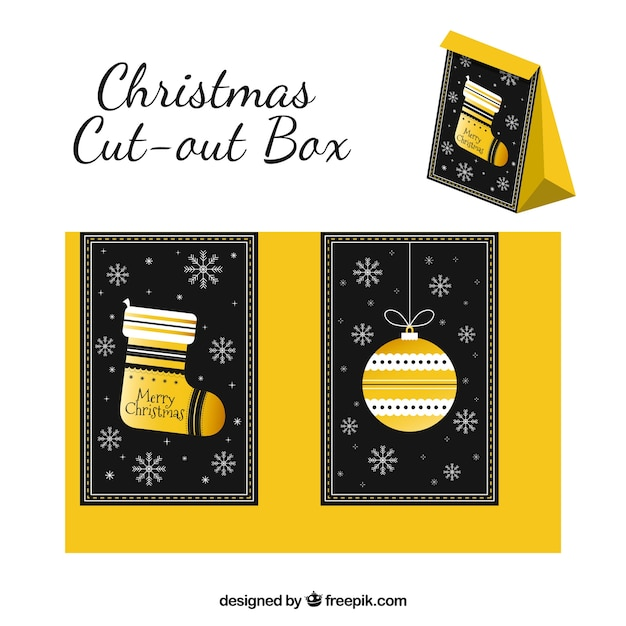 Nice christmas cut-out box