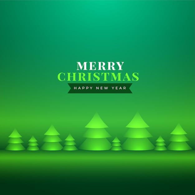 Хорошее рождественское поздравление с реалистичной рождественской елкой Бесплатные векторы