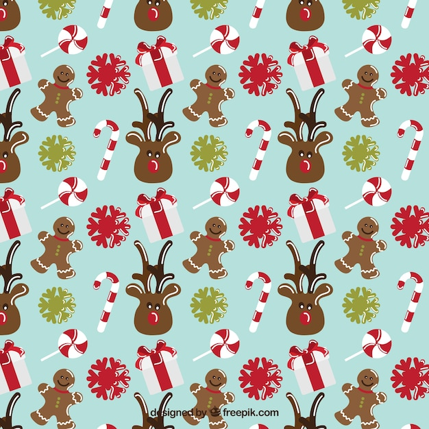 Nice christmas pattern Free Vector