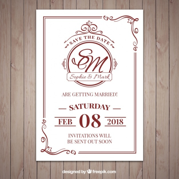 wedding invitation vectors photos and psd files free download