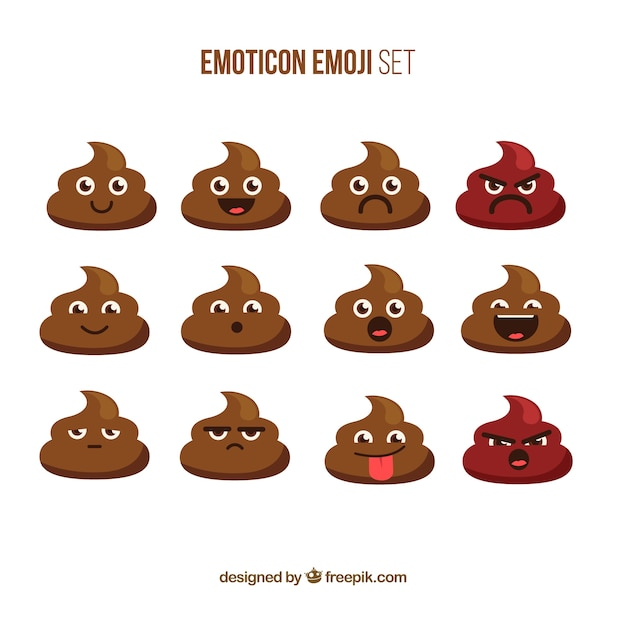 Nice collection of emoticon Premium Vector