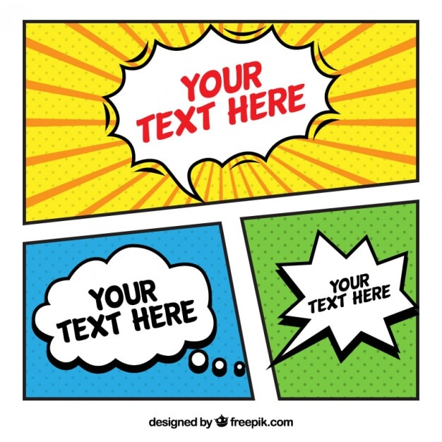Nice Comic Template Vector  Free Download