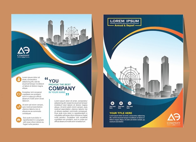 Nice cover layout brochure catalog for annual report Premium Vector