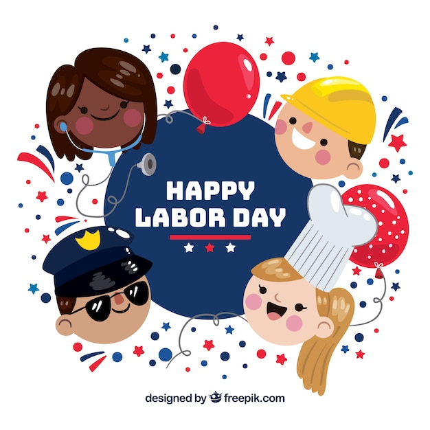 Nice day of labor background