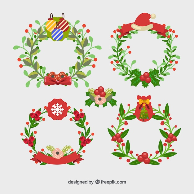 Nice decorated christmas wreaths