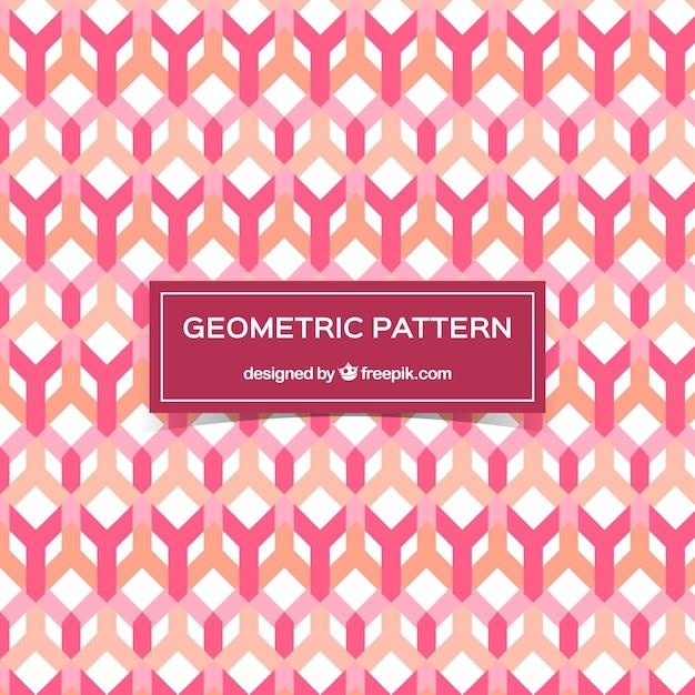 Nice decorative pattern of geometric shapes in flat design