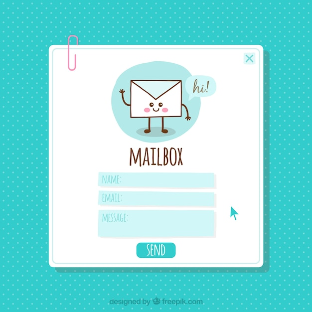 Nice Email Template Vector Free Download - Mailbox label template