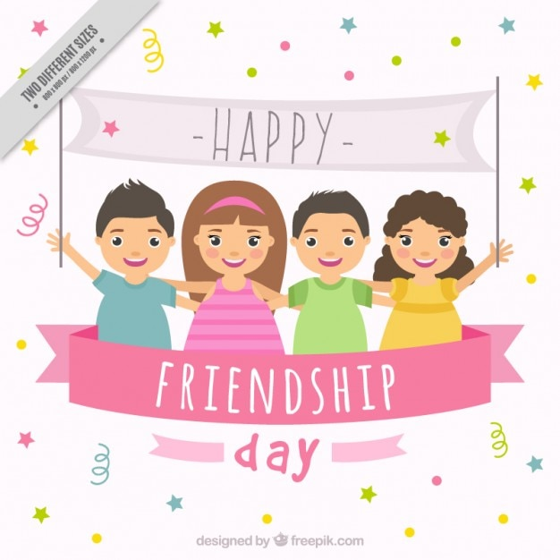 Friendship Card Vectors Photos and PSD files – Friendship Card Template