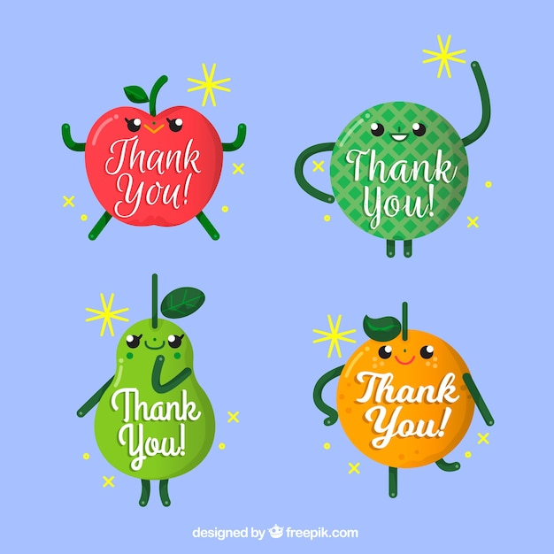 Nice fruits with thank you message