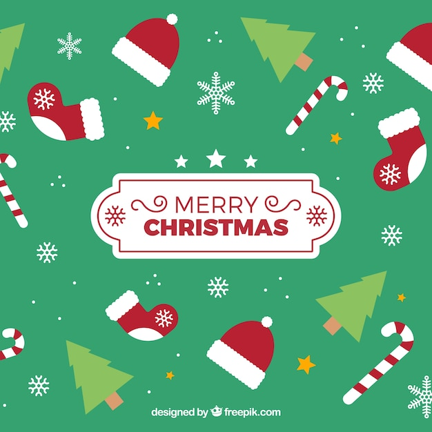 Nice green background for christmas designs