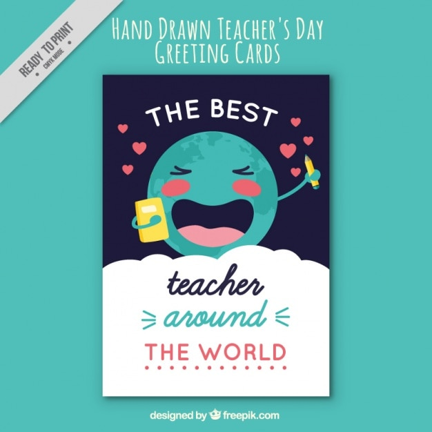 Nice Greeting Card Of Teacher's Day Vector