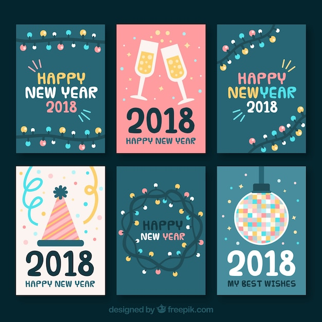 Nice greeting cards collection for new year