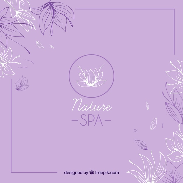 Nice hand drawn spa background Free Vector