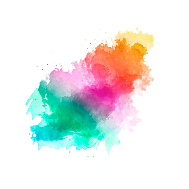 Nice handmade brush with the colors of the rainbow Free Vector