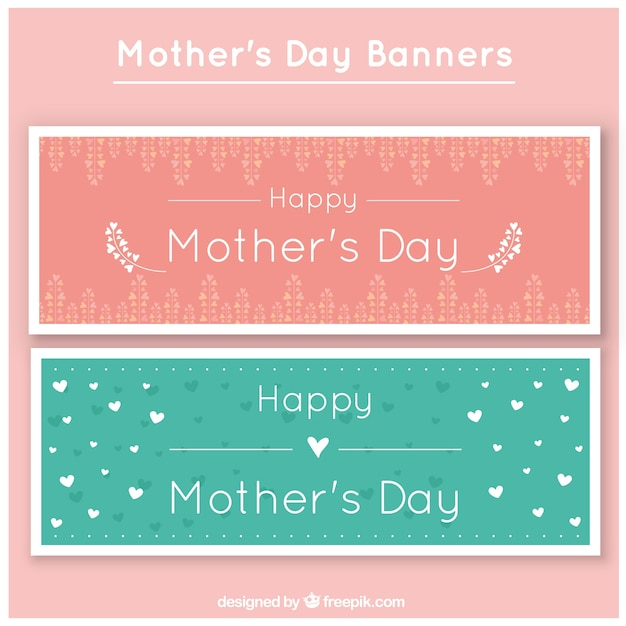 Nice Happy mother\'s day banners