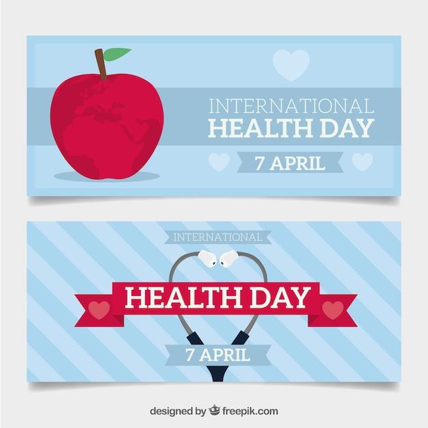 Nice health day banners