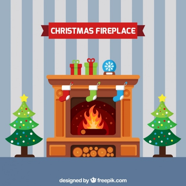 Christmas Fireplace Vectors Photos and PSD files Free Download