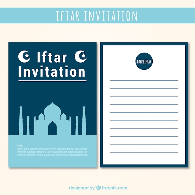 Nice iftar invitation vector free download nice iftar invitation free vector stopboris Images