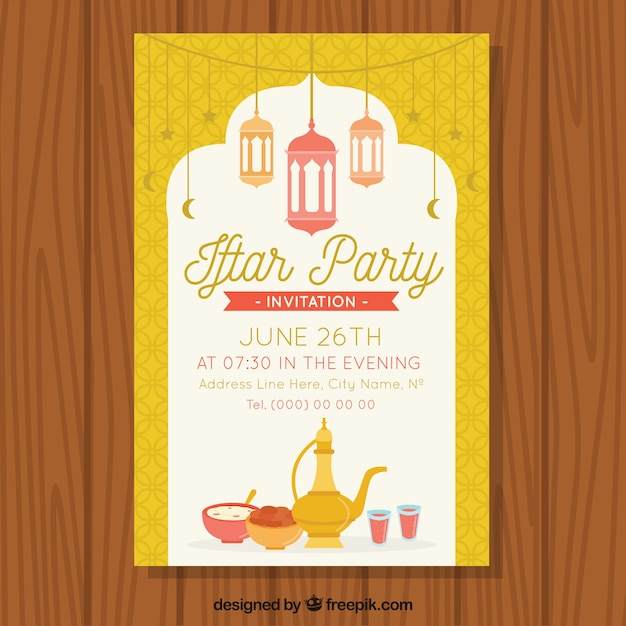 Nice iftar party invitation vector free download nice iftar party invitation free vector stopboris Gallery