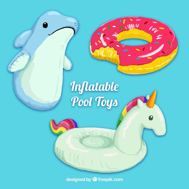 Nice inflatable pool toys Free Vector