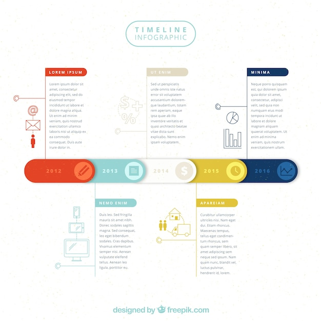 nice infographic timeline vector