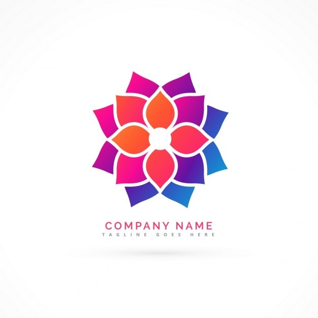 Nice Logo Of A Flower Vector