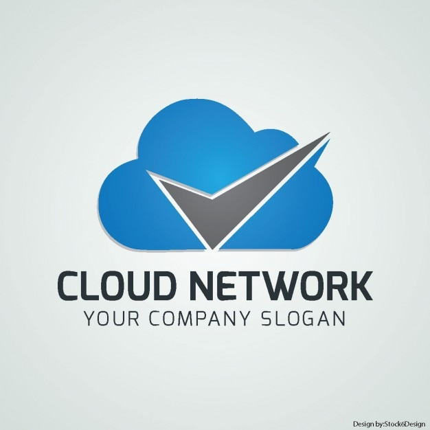 Nice Logo With A Blue Cloud Vector