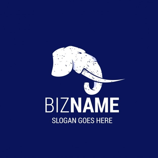 Nice Logo With An Elephant Vector