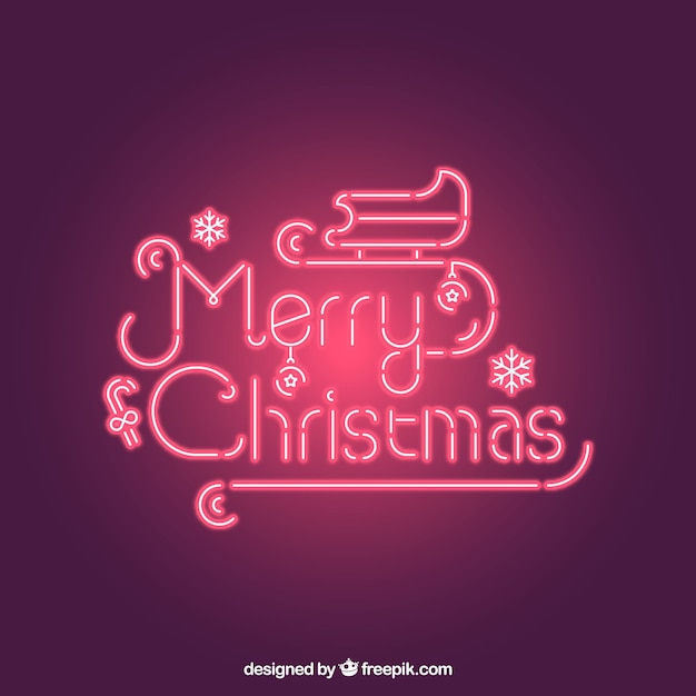 Nice neon christmas lettering
