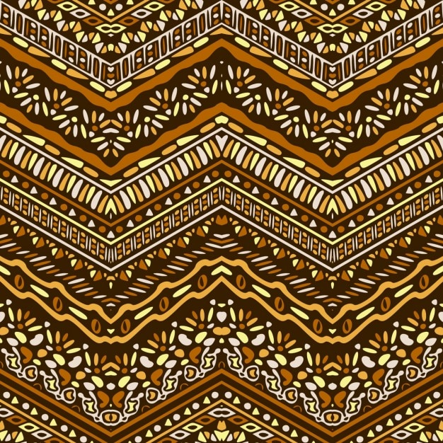 Nice pattern with ethnic ornaments Free Vector