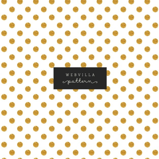 Nice pattern with gold dots on a white background Free Vector