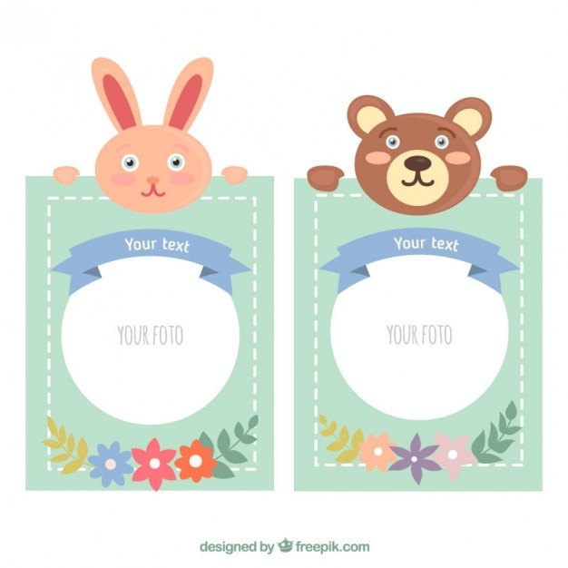 Nice photo frames of animals Vector | Free Download