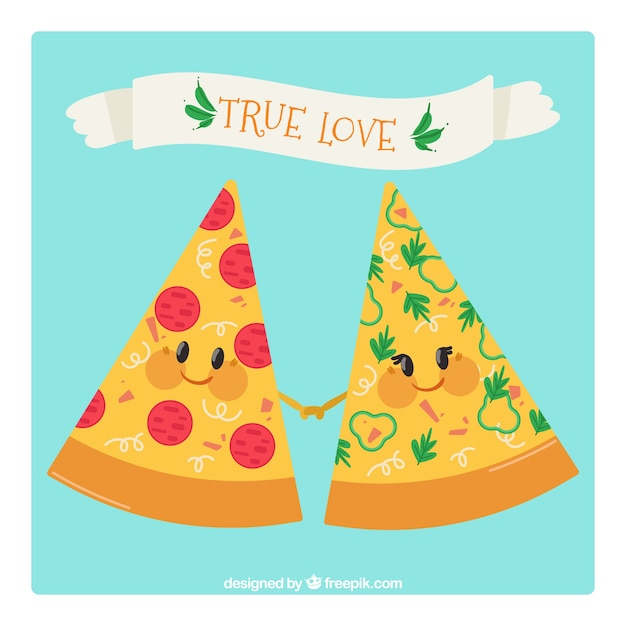 Nice pieces of pizza background
