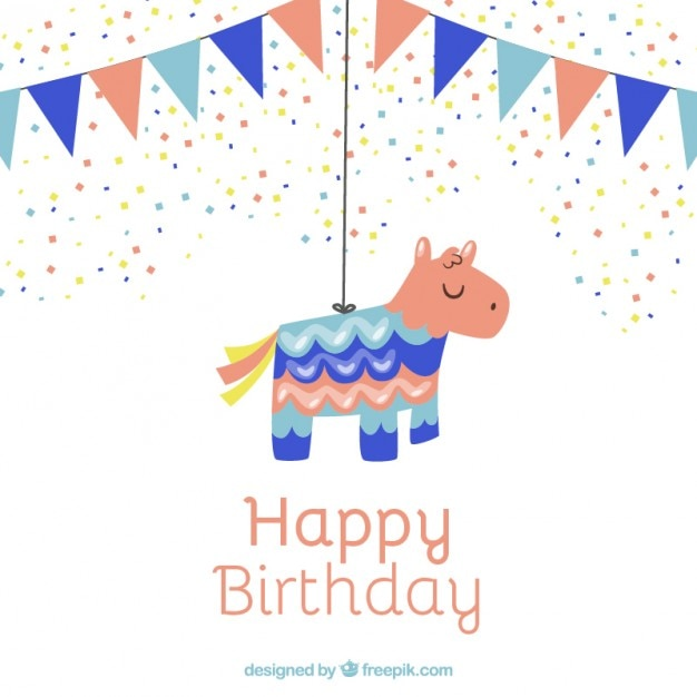 Nice pinata for birthday Vector | Free Download