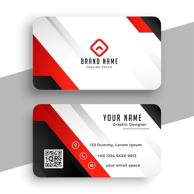Красивый красный дизайн шаблона визитной карточки бренда Бесплатные векторы