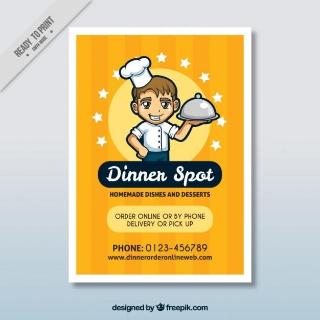 Nice restaurant brochure Free Vector