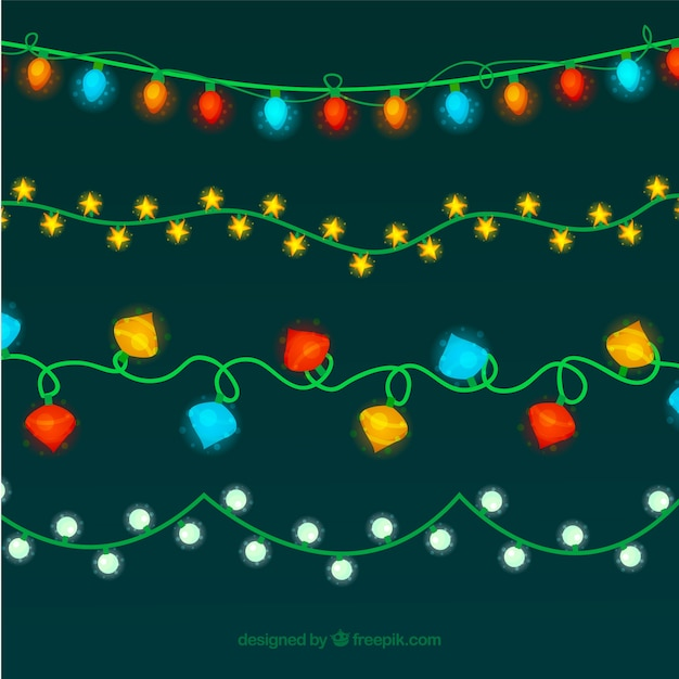 Nice retro christmas lights Vector