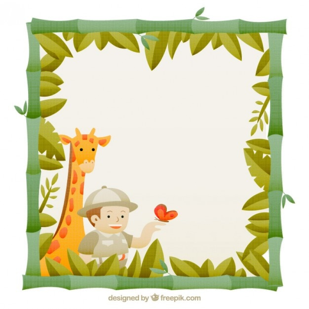 Nice safari frame Vector | Free Download