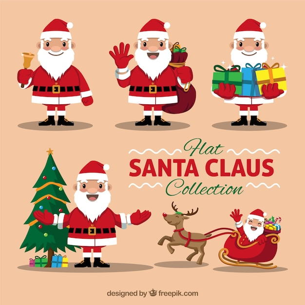 Nice santa claus pack with objects