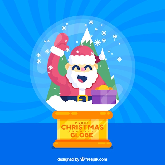 Nice santa claus snowball background