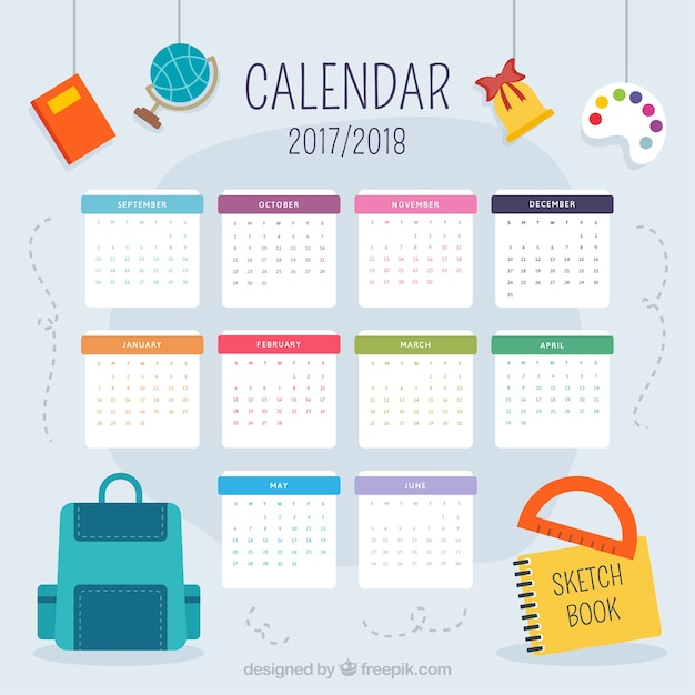 Nice school calendar 2017